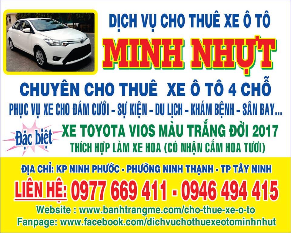 dịch vụ cho thuê xe ô tô Minh Nhựt